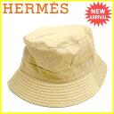 【送料無料】 エルメス HERMES 帽子 メンズ可 モッチ ハット ベージュ 綿60%ポリエステル30%ポリウレタン10%(裏地)アセテート10% 人気 セール 【中古】 J16634