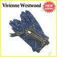 【送料無料】 ヴィヴィアン ウエストウッド Vivienne Westwood 手袋 レディース チェック ネイビー×ブラック×イエロー ウール×レザー 未使用セール 【中古】 J14124 .