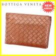 【送料無料】 ボッテガヴェネタ Bottega Veneta 二つ折り財布 コンパクトサイズ メンズ可 イントレチャート 113112 ブラウン レザー (あす楽対応) 人気 【中古】 L632 .