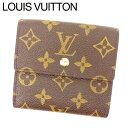 【中古】 【送料無料】 ルイヴィトン Louis Vuitton Wホック財布 三つ折り メンズ可 ポルトフォイユエリーズ モノグラム M61652 ブラウン PVC×レザー (あす楽対応)(激安・即納)(参考定価65100円) R65