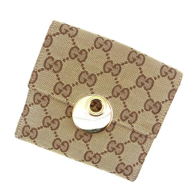【中古】 グッチ Wホック財布 さいふ GG柄 ピンク×ベージュ GUCCI ホックサイフ ホック財布 さいふ 財布 さいふ サイフ 財布 さいふ ユニセックス 小物 迅速発送 在庫処分 1点物 C871