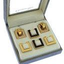 【中古】 【送料無料】 クリスチャン・ディオール Christian Dior イヤリング ヴィンテージ アクセサリー レディース 着せ替えイヤリングセット(3パターン) ラインストーン ゴールド系 ゴールド素材×ラインストーン (あす楽対応)未使用品 人気 I146