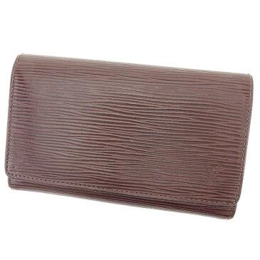 【中古】 【送料無料】 ルイ ヴィトン L字ファスナー財布 財布 二つ折り財布 メンズ可 エピ ポルトモネビエトレゾール モカ(ブラウン) エピレザー Louis Vuitton T1776