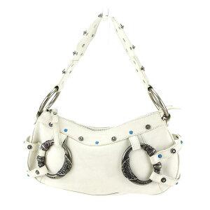 [可用优惠券] [二手] Dolce&Gabbana单肩包一个单肩包白色x银色x绿松石皮革x金属配件Dolce&Gabbana女士礼物1礼物人气好夏季库存处理时尚T3335