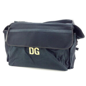 [Coupons available] [Used] Dolce&Gabbana Boston bag Shoulder bag DG logo Black x Gold x Silver DOLCE&GABBANA Back storage Travel bag Popular gifts Quick shipping Stock disposal Men Women Good summer 1 item T12579