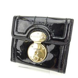 【中古】 Wホック財布 ブラック 在庫一掃 男性 女性 ブランド 送料無料 おしゃれ 夏 ラスト1点 T11809