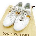 【中古】 【送料無料】 ルイ ヴィトン スニーカー シューズ 靴 ホワイト×ベージュ T2558s