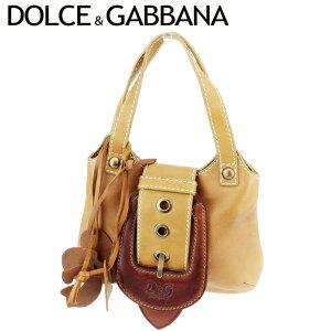 [可用优惠券] [二手]杜嘉班纳(Dolce&Gabbana)手袋手提袋心形图案棕色皮革DOLCE&GABBANA背部手提式Chibags时尚包包热门礼品快速发货库存处置女士女士夏季1件T8969