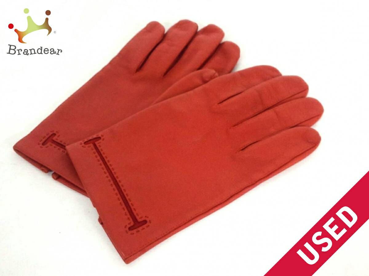 9479329ddf5b HERMES(エルメス) 手袋 7 1/2 レディース美品□ - ブラウン サイズ:7 1/2 ラムスキン【】