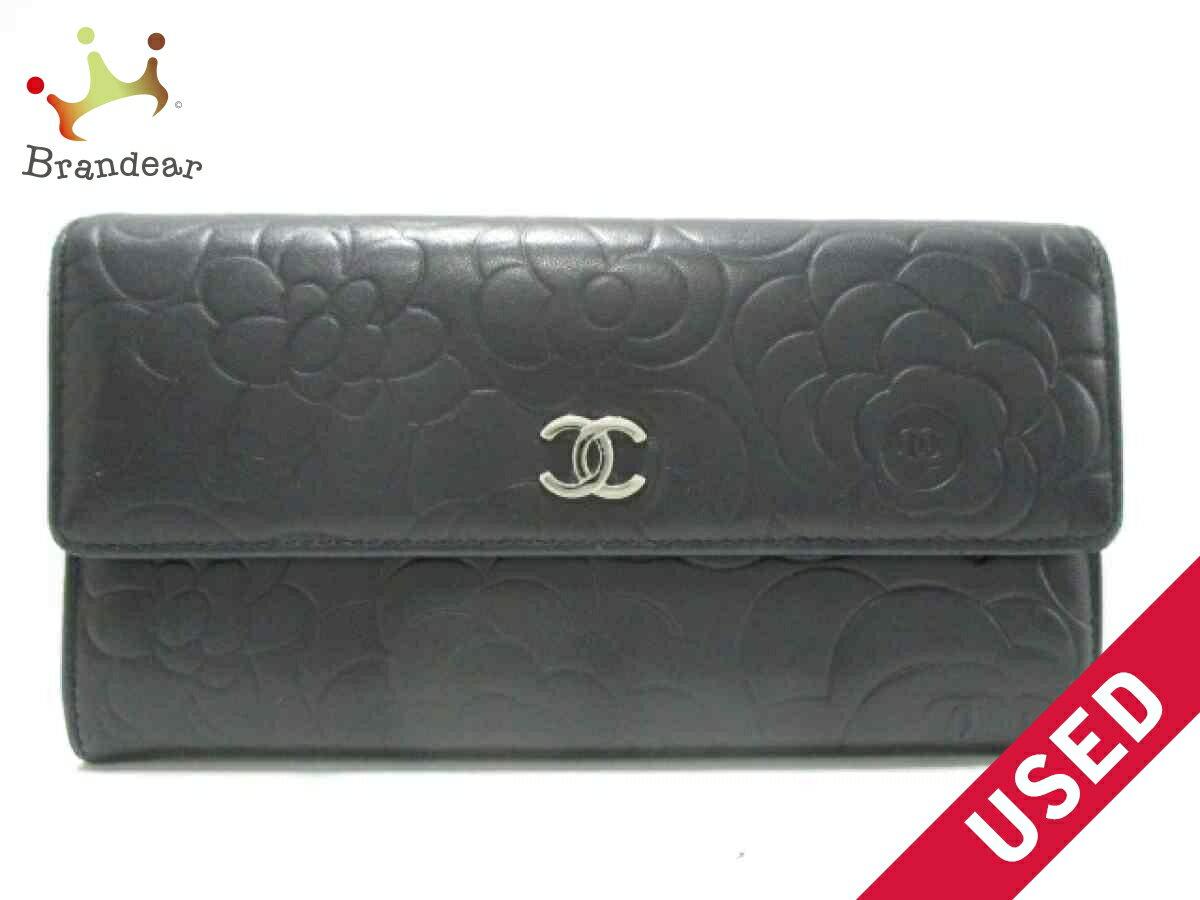 7aab3e31ec7d6b Image is loading CHANEL-wallet-Camellia-Textured-lambskin-K2106