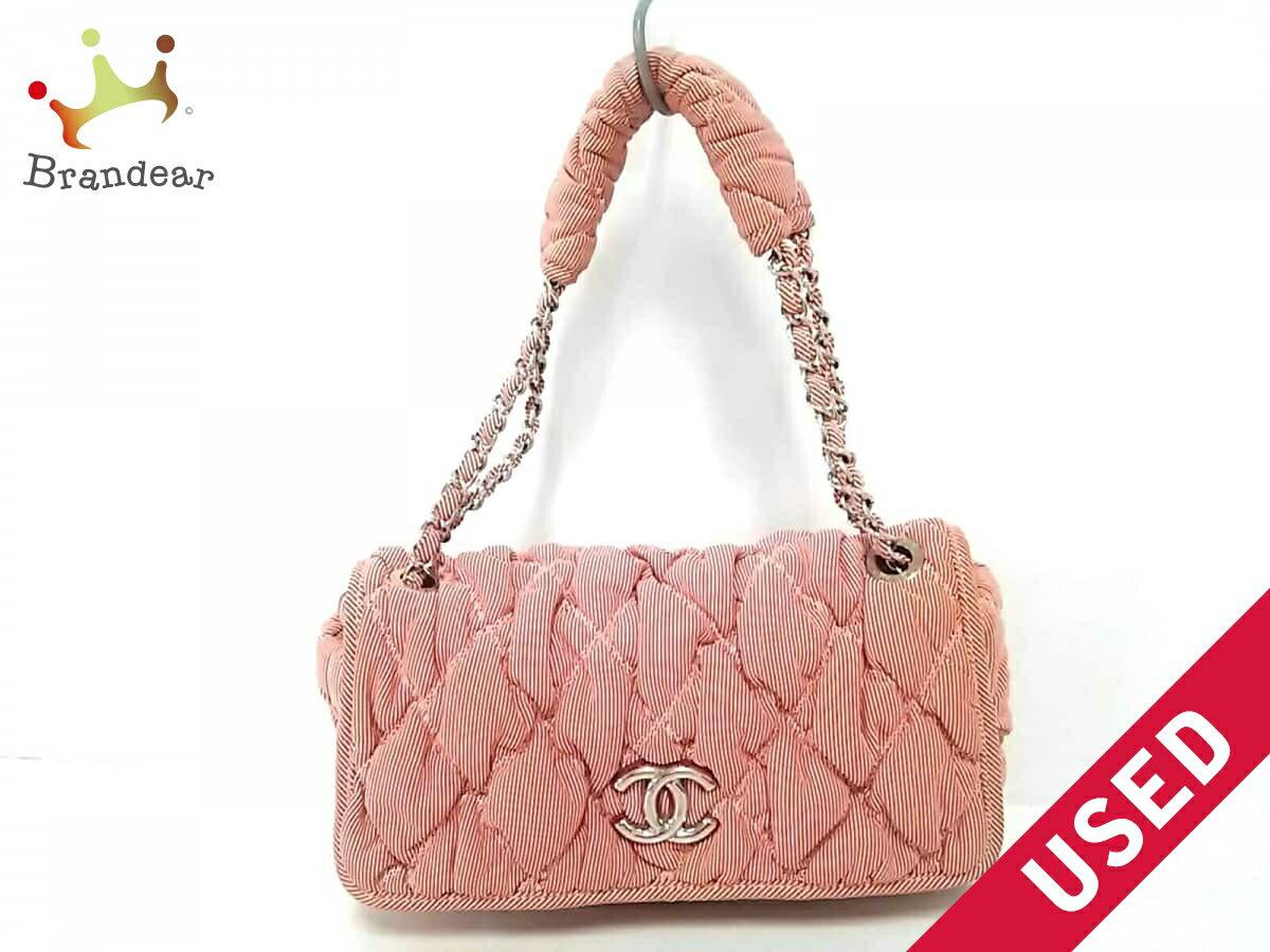 b7ccc416fa44 Image is loading CHANEL-handbag-bubble-quilt-stripe-fitting-cotton-N815