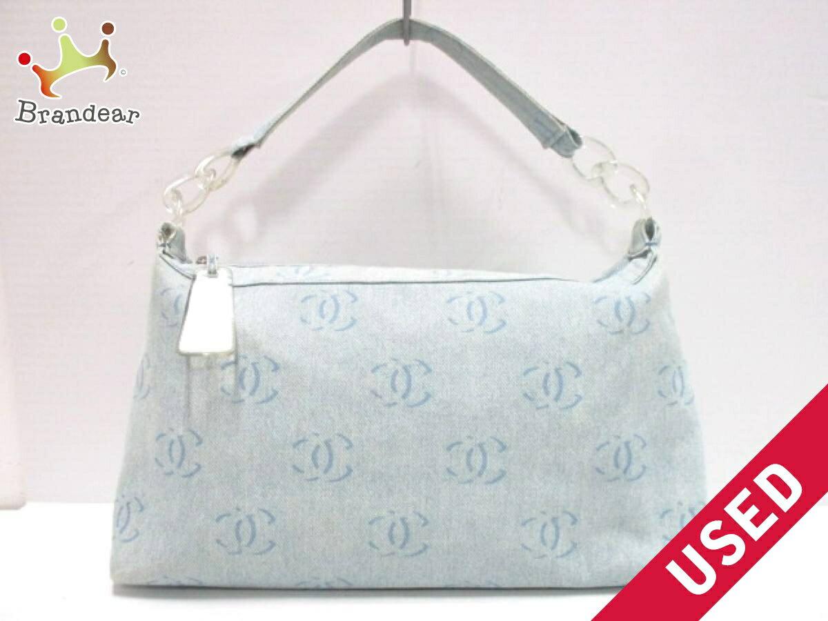 2eebe8b7635610 Image is loading CHANEL-handbag-plastic-chain-denim-N1164