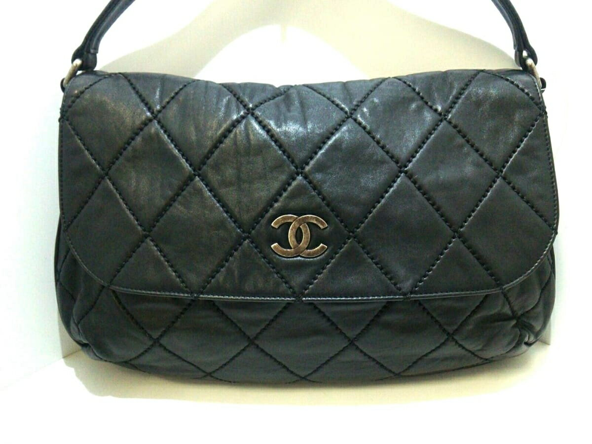 753b1b295ecf Image is loading CHANEL-shoulder-bag-wild-stitching-leather-N32071