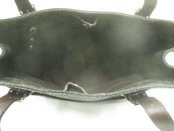 ea17117b19e4 LOEWE(ロエベ) トートバッグ アナグラム柄 黒×グレー×ダークブラウン PVC(塩化ビニール)×レザー【】