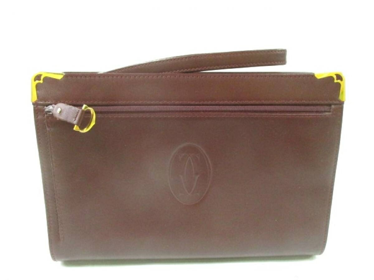 6251f21f6caf Cartier(カルティエ) セカンドバッグ マストライン ボルドー レザー ...