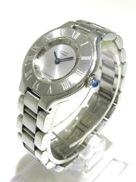 【新着】Cartier(カルティエ) 腕時計 マスト21SM W10109T2 レディース シルバー【20190309】【中古】
