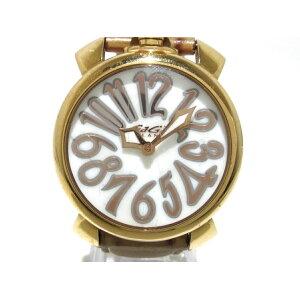 GAGA MILANO(ガガミラノ) 腕時計 マヌアーレ40 5021 レディース シェルホワイト【20200603】【中古】【dfn】