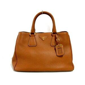 PRADA Tote Bag-BN2579 Brown Leather Tag Leather [20200620] [Used] [dfn]