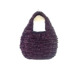 ANTEPRIMA手提袋金属丝袋紫色金属丝x丝绒x尼龙[20200623] [二手] [dfn]