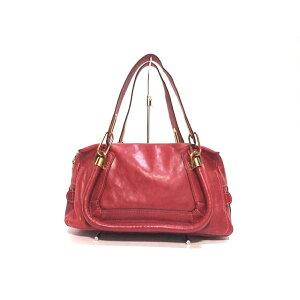 Chloe Handbag Paraty Red Leather [20200521] [Used] [dfn]