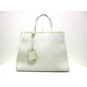 FENDI Handbag Toojour 8BH250 Ivory Leather [20200528] [Used] [dfn]