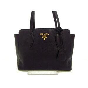 PRADA (Prada) Tote bag As good as new ■-1BG112 Black Leather Tag Leather [20200505] [Used] [dfs]