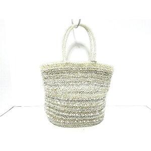 ANTEPRIMA手袋-PB15FD2109浅灰色x象牙线x化纤[20200502] [二手] [dfn]