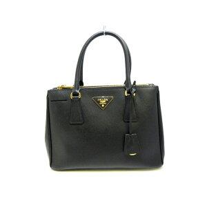 [新到产品]普拉达(PRADA)手提袋状态良好■Galleria Black Saffiano Luxe(皮革)[20200421] [二手]