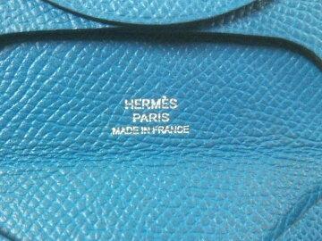 【新着】HERMES(エルメス)コインケースバスティアブルーザンジバルヴォーエプソン【20200403】【中古】