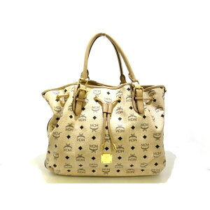MCM (McM) handbag beige x black synthetic leather [20200619] [used] [dfs]