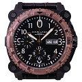ハミルトン時計半額カーキBeLOWZEROオートクロノブラックPVDメンズブロンズH78626583【あす楽対応_関東】