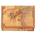 プリマクラッセ財布3つ折り財布小銭入れなしW1009000GeoClassic地図柄マップ柄ベージュ系【あす楽対応_関東】