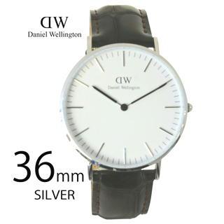 ダニエルウェリントン 腕時計 クラシック 36mm レディース シルバー 0610DW ヨーク ブラウン Class...