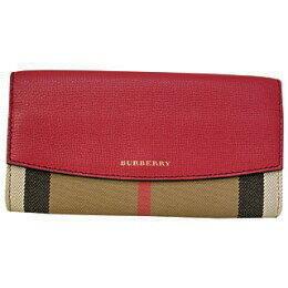バーバリー財布 二つ折り長財布 3975327 RUSSET RED レッド【あす楽対応_関東】