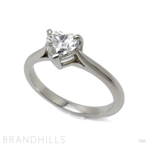 Tiffany戒指PT950钻石0.41ct心形明亮式切割F颜色VVS2戒指4号毛重2.6g Tiffany&co Extreme Beauty [二手]