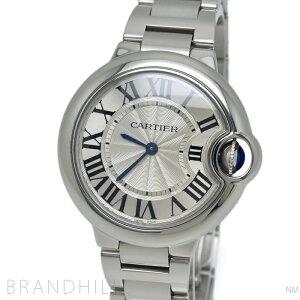 Cartier Watch Ladies Baron Blue De Cartier Quartz 33mm SS Silver Dial W6920084 Cartier Good Condition [Used]