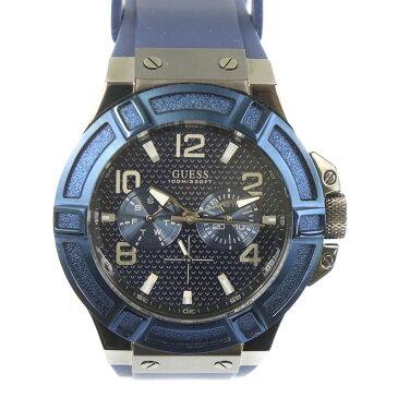 ゲス メンズ腕時計 RIGOR W0248G5 中古 クオーツ ブルー文字盤 GUESS 【中古】 | ウォッチ ファッション 青 シンプル ブランド小物 クロノグラフ 電池式 ラバーベルト ランクA
