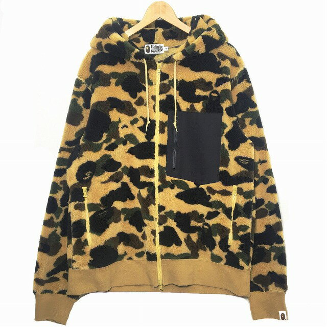 トップス, パーカー A BATHING APE 1ST CAMO ZIP-UP FLEECE HOODIE 1st XXL BAPE NIGO Y