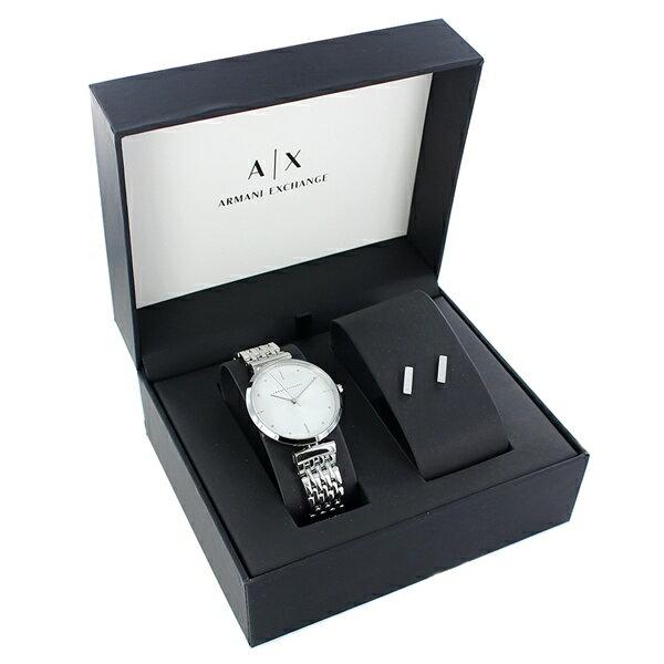 最大12,000円OFFクーポン アルマーニエクスチェンジスペシャルギフトボックスセットレディース腕時計ピアス時計アクセサリー