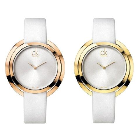 カルバンクライン 時計 レディース 腕時計 アグレゲート 選べる2カラー ローズゴールド イエローゴールド ホワイトレザー 白 K3U235 誕生日 お祝い ギフト