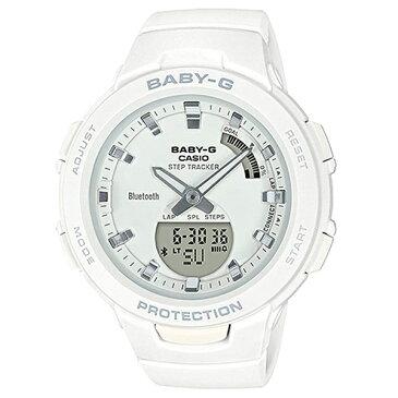 CASIO カシオ Baby-G ベビーG ベビージー 時計 レディース 腕時計 G-SQUAD スマートフォンリンク スマホリンク ホワイト アスレジャー BSA-B100-7A