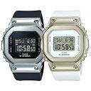 ペアウォッチ CASIO G-SHOCK ユニセックス Gショック ジーショック カシオ メンズ レディース 腕時計 デジタル スクエア 海外モデル メタルカバー 防止 ベージュ 樹脂バンド 小型 軽量 カップル