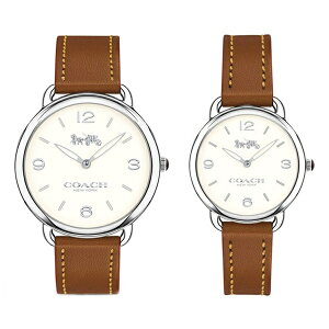 [जोड़ी भंडारण के मामले के साथ] कोच घड़ी जोड़ी घड़ी जोड़ी घड़ी Delancey चमड़ा वयस्क सरल प्यारा ब्राउन चमड़ा 1450279314502789 जन्मदिन का जश्न उपहार