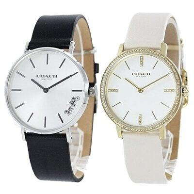 両親 贈呈品 退職祝い 敬老の日 ペア ウォッチ コーチ 腕時計 カップル 夫婦 プレゼント 記念日 誕生日 ギフト メンズ レディース ブラック ホワイト レザー