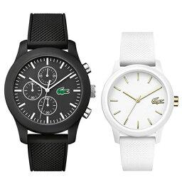 【最大10,000円OFFクーポン】LACOSTE ラコステ 腕時計 ペアウォッチ メンズ レディース ブラック ホワイト 白黒 ペア 時計 20108212001063 誕生日プレゼント
