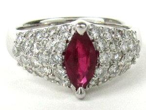 ルビー ダイヤモンド 指輪 リング