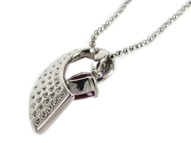 ルビー ダイヤモンド ネックレス