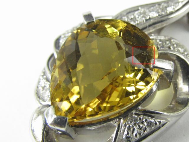 イエローベリル ダイヤモンド ネックレス
