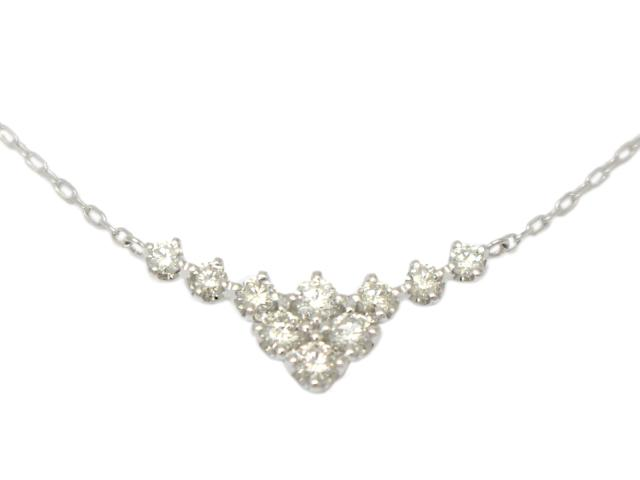 ハート&キュービット ダイヤモンド ネックレス