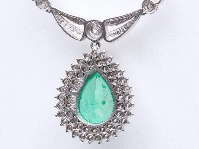 エメラルド ダイヤモンド ネックレス